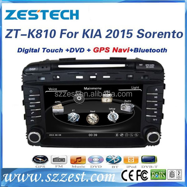 ZESTECH touch screen in-dash car audio dvd player for KIA SORENTO 2015 car radio Car Sat Navi headunit