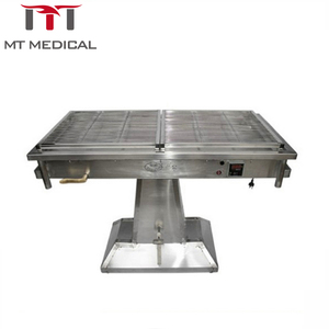 Animal veterinary instrument hydraulic lifting operation table in vet clinic room