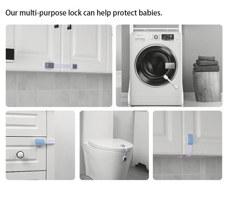 Child Safety Strap Locks Multi Use Latch Cabinet Lock