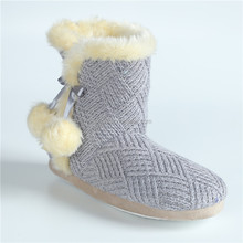 indoor boots knitted boot warm winter with split boots