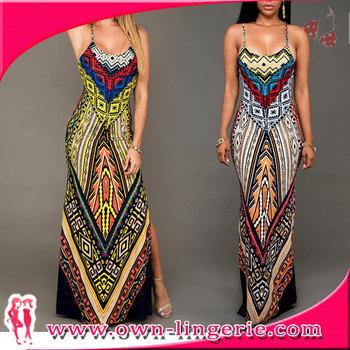 Beach Wear Long Kaftan Dress Colorful Designer Printed Cover Ups Boho Style Summer