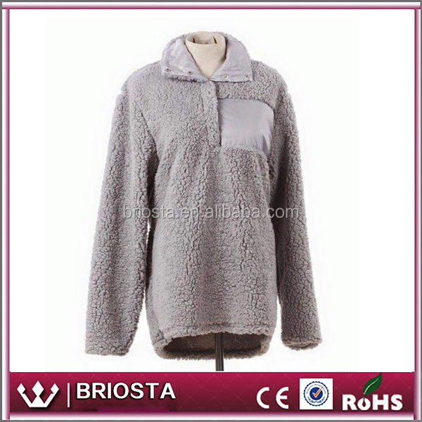Wholesale Monogram Sherpa Pullover Jacket - Buy Sherpa Pullover ...