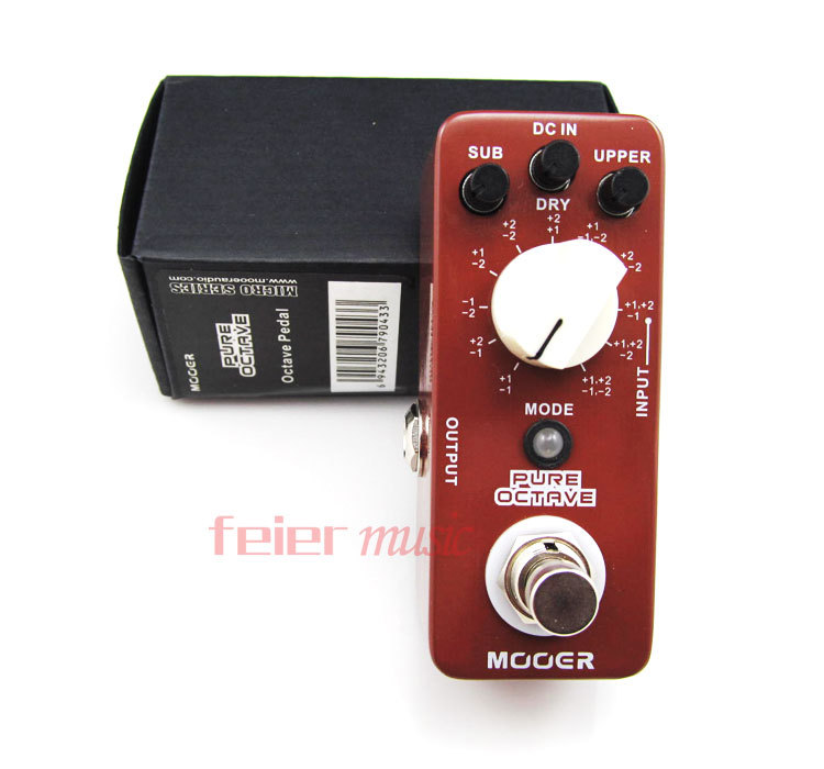 mooer effect pedals pure octave pedal with 11 different octave electric guitar bass guitar pedal. Black Bedroom Furniture Sets. Home Design Ideas
