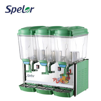 Automatic Soft Cold Beverage Juice Dispenser With Refrigeration For Sale