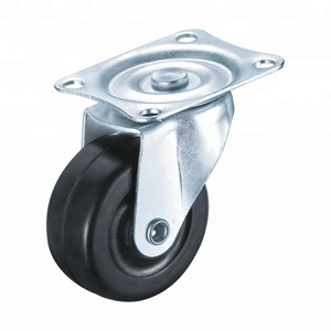 Hot sale Swivel rubber black caster wheel/2 inch furniture Omni-directional caster wheel from casters factory