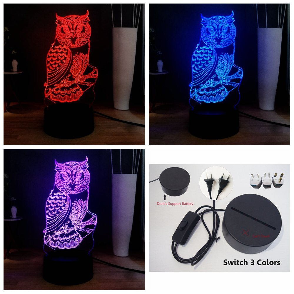 New Romantic Special Love Picture 3 Change Color LED Illusion Home Bedside Night USB Table Mood Light Girlfriend Holiday Gift
