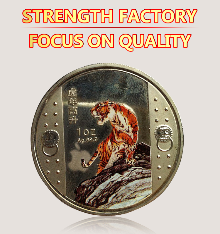 Custom wholesale cheap zinc alloy gold bronze plated spinning silver coin