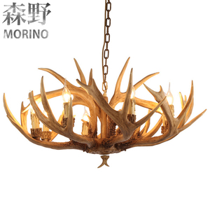 Free sample offered OEM design resin ceiling horn chandelier
