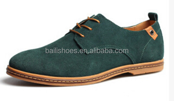 2015 Man genuine cow suede leather shoes casual men shoes