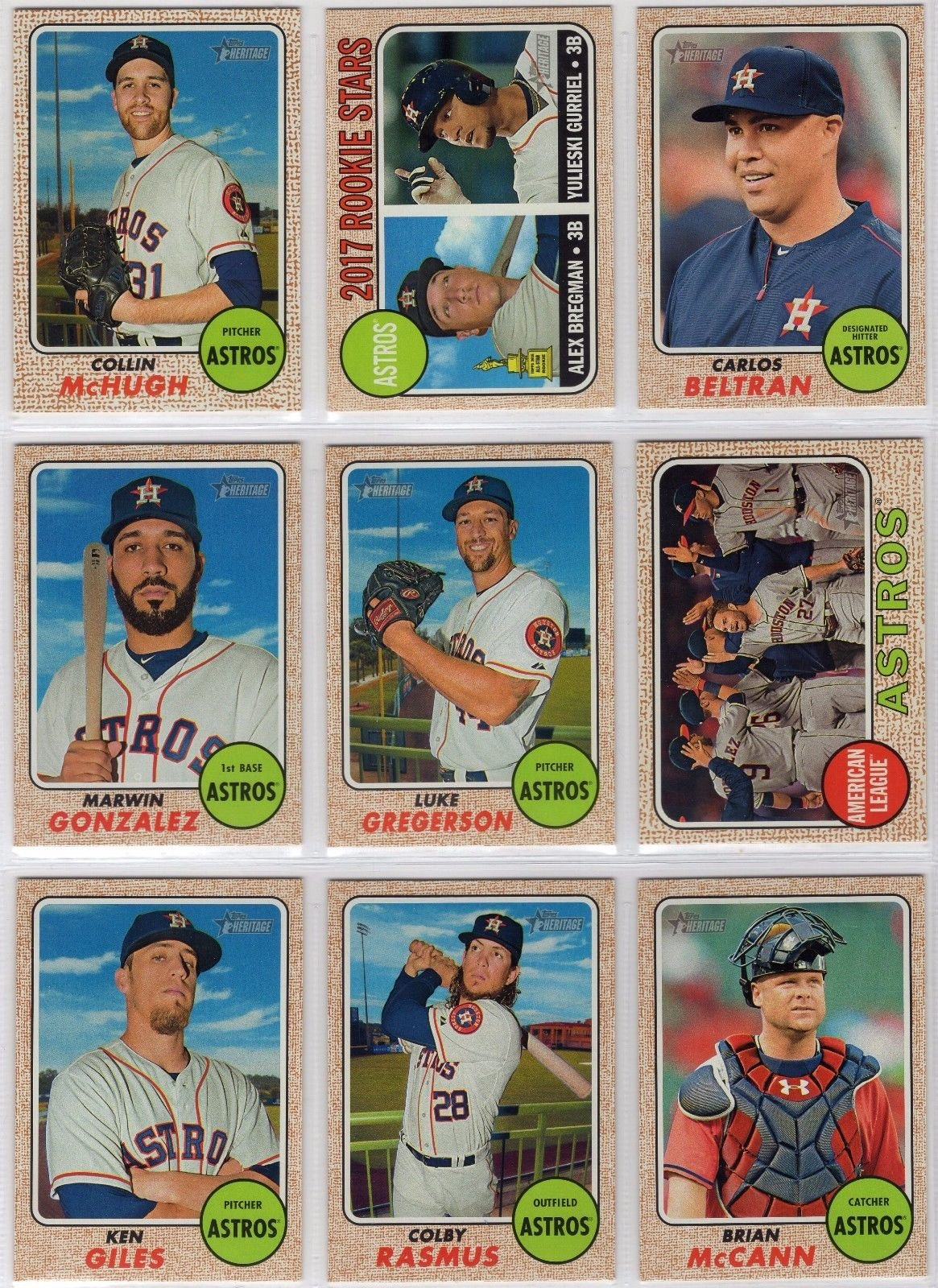 Buy 2017 Topps Update Series Houston Astros Team Set Of 15