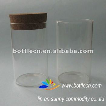 Big Clear Glass Bottle In Cork Buy Large Glass Tube With Wooden
