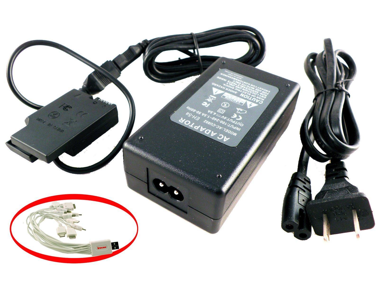 D810 D750 D800 D800E D7100 D600 1 V1 Digital Cameras Polaroid AC Power Adapter Kit For Nikon D7000 D610 Nikon EH5 + EP5B Replacement