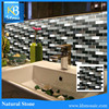 Chinese natural polished glass mosaic art for kitchen