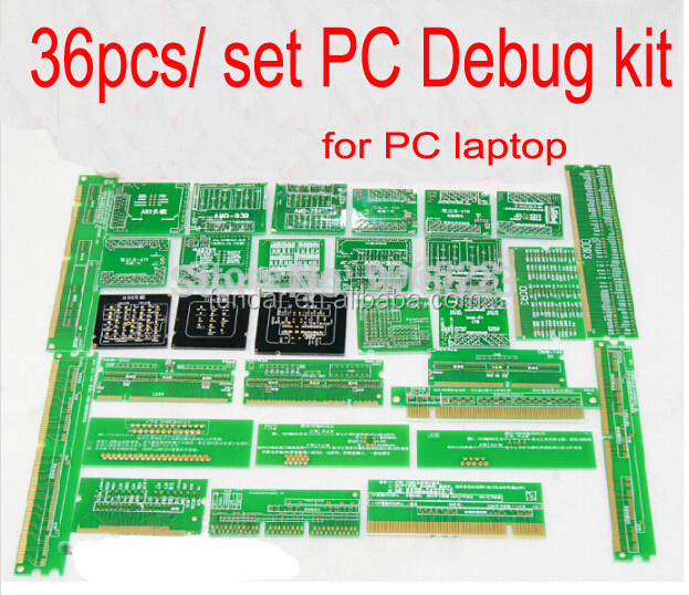 2015 New 36pcs/ set PC Debug kit CPU socket dummy load,mini pci,pci-e,DDR slot tester tools kit for desktop laptop