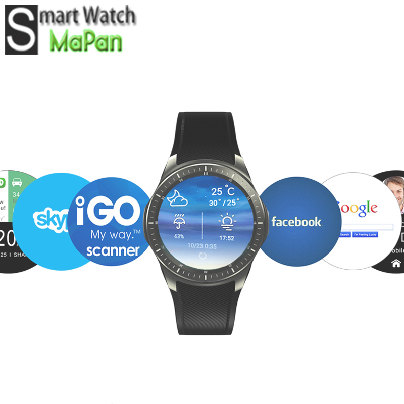 "MaPan android smart watch MTK6580 Quad Core 3G heart Smart Watch 1.39"" SIM GPS WiFi 3G BT Google Play all in one MW10"