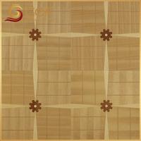 Marquetry luxury parquet pine wood flooring