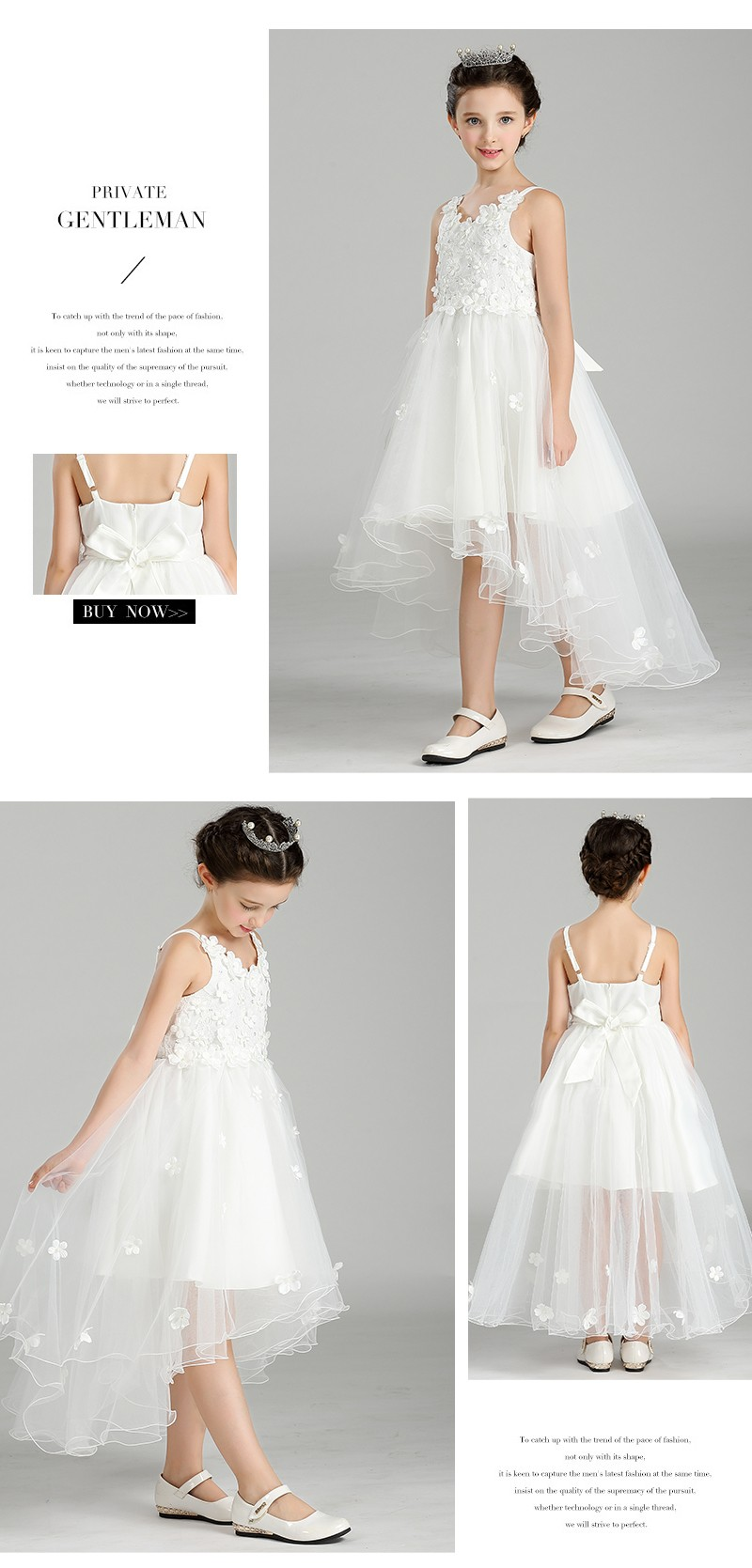 8260daa7792 Top Quality Wholesale Little Girls Lace Traling Spaghetti Strap Flower  Girls Wedding Dresses T238
