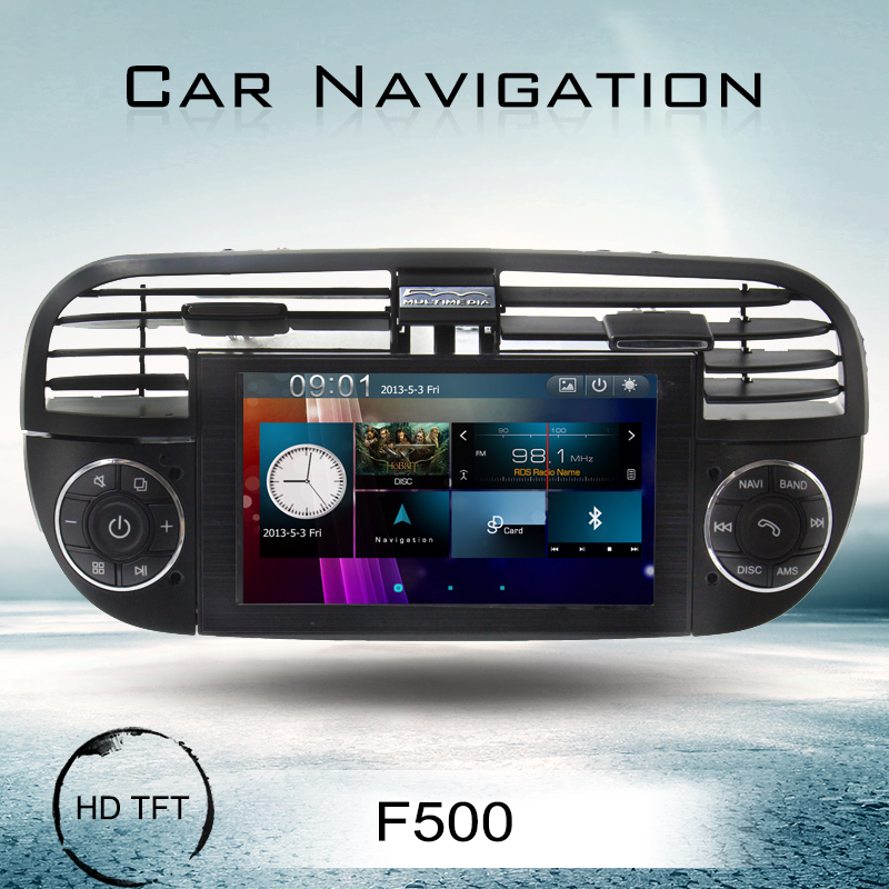 fiat 500 touch screen car dvd player with navigation radio. Black Bedroom Furniture Sets. Home Design Ideas