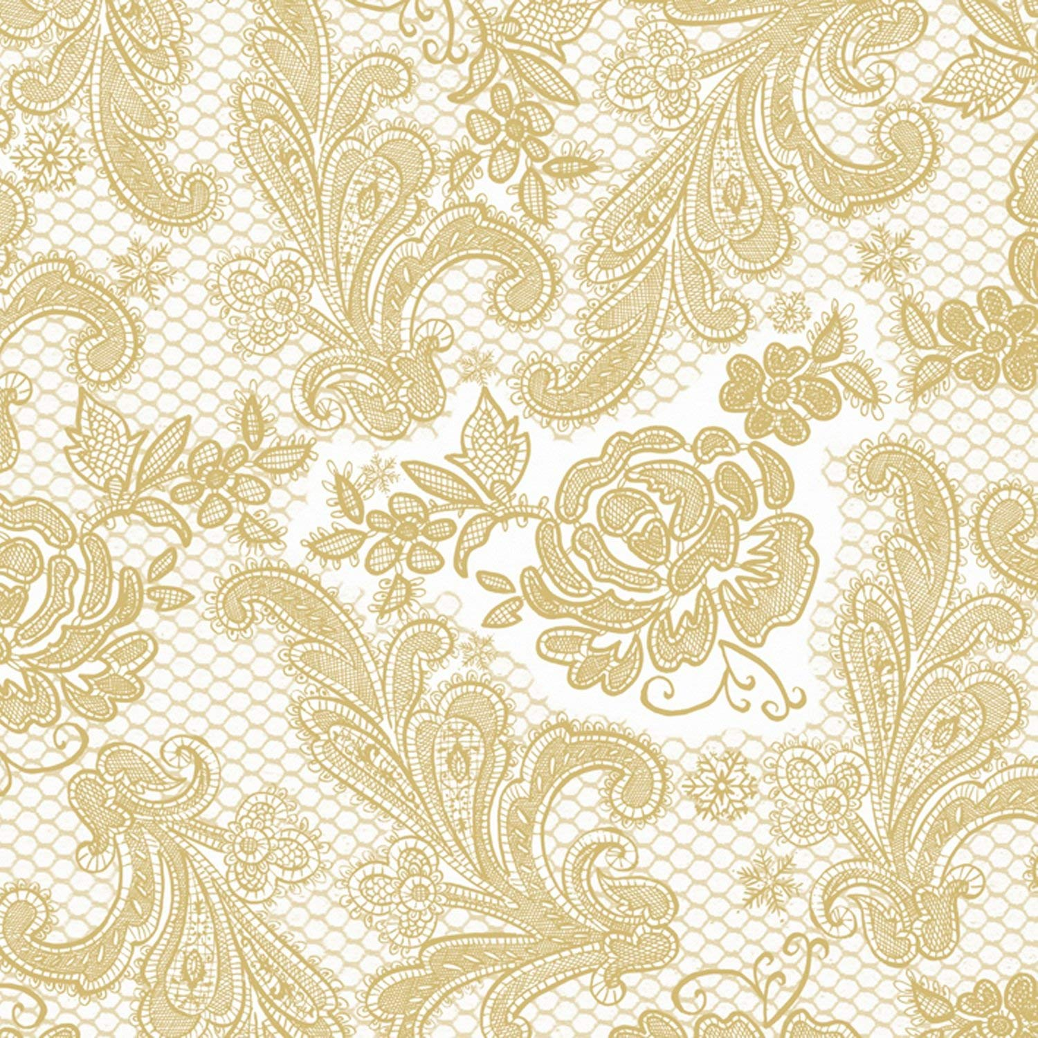 Silver//White Paperproducts Designs 1411052 15-Pack Lace Royal Elegant Guest Towels