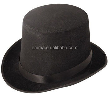 89cc1cf367c Hot sale carnival party hat men s black round top hat with cheap price  HT2247