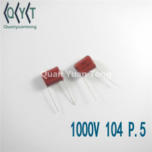 Hot Sales Polyester Film Capacitor 1000V 100uf P.5 CBB