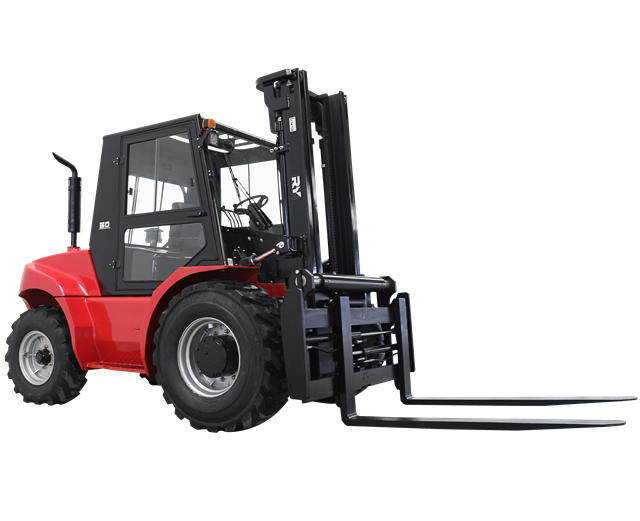 2 wheel drive Royal forklift 5.0 ton heavy duty rough terrain forklift truck diesel forklift 5000 kgs 1104C -44T engine