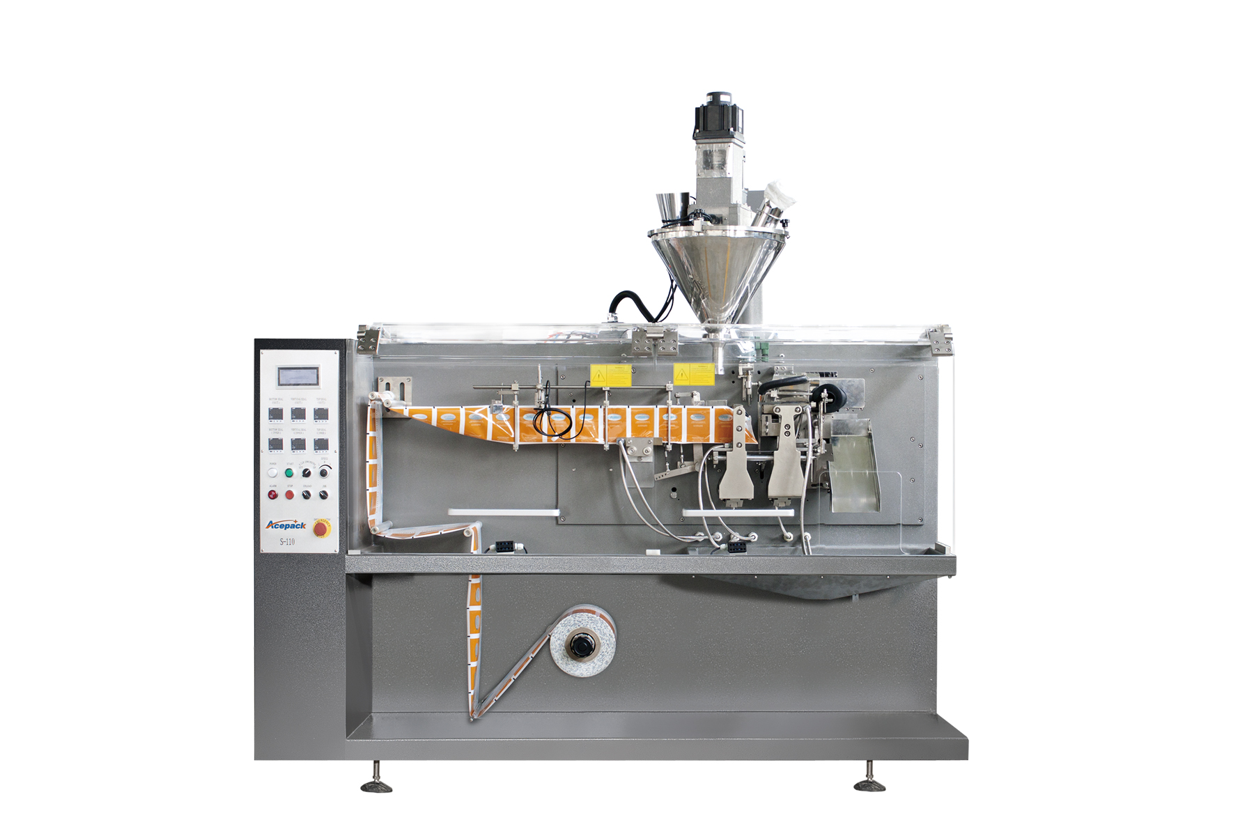50g coffee powder plastic bag form filling and sealing machine