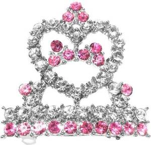 Tiara Hair Barrette Pink