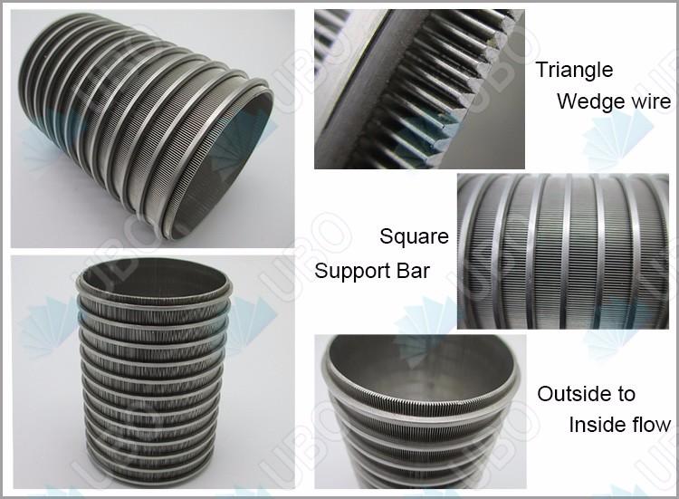 Wedge welded screen wire mesh screen drum filter