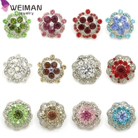 Custom Jewelry Manufacture Antique Crystal Rhinestone Small Brooches for Lady Garment Accessories