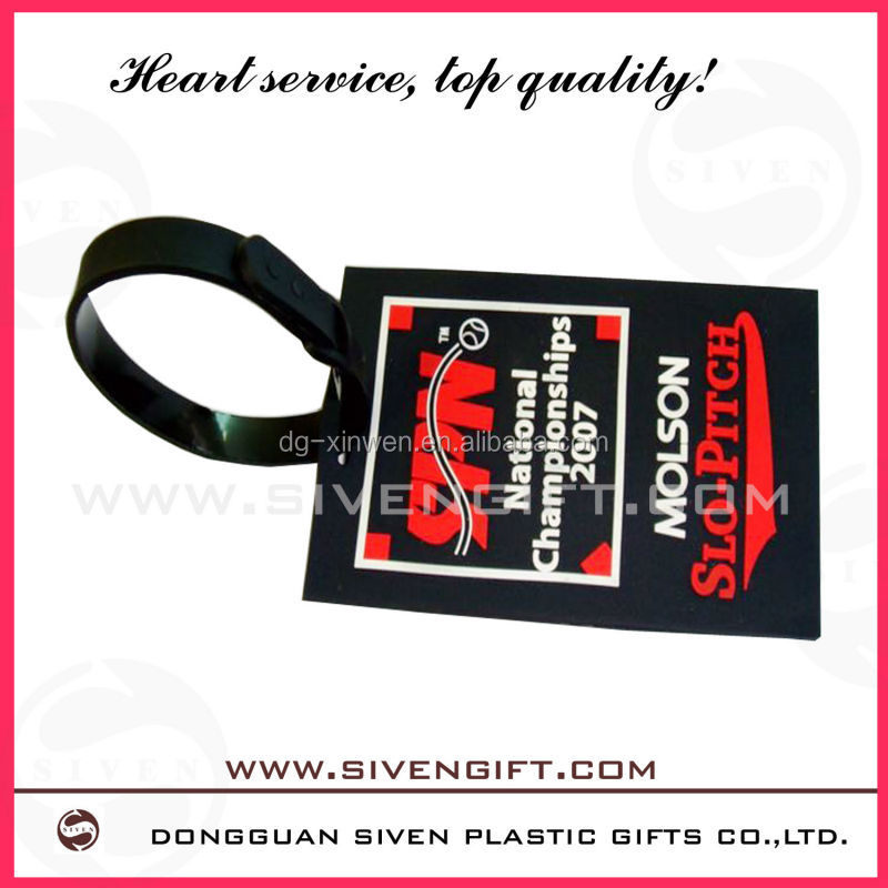 travel tag customer silicone rubber luggage tag