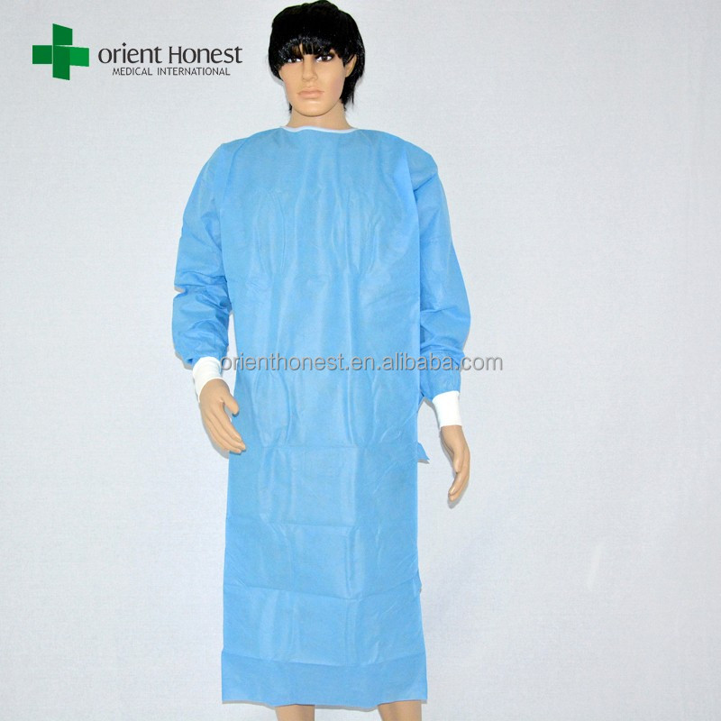 Non Sterile Dental Disposable Surgical Gowns With Knit Cuffs ...