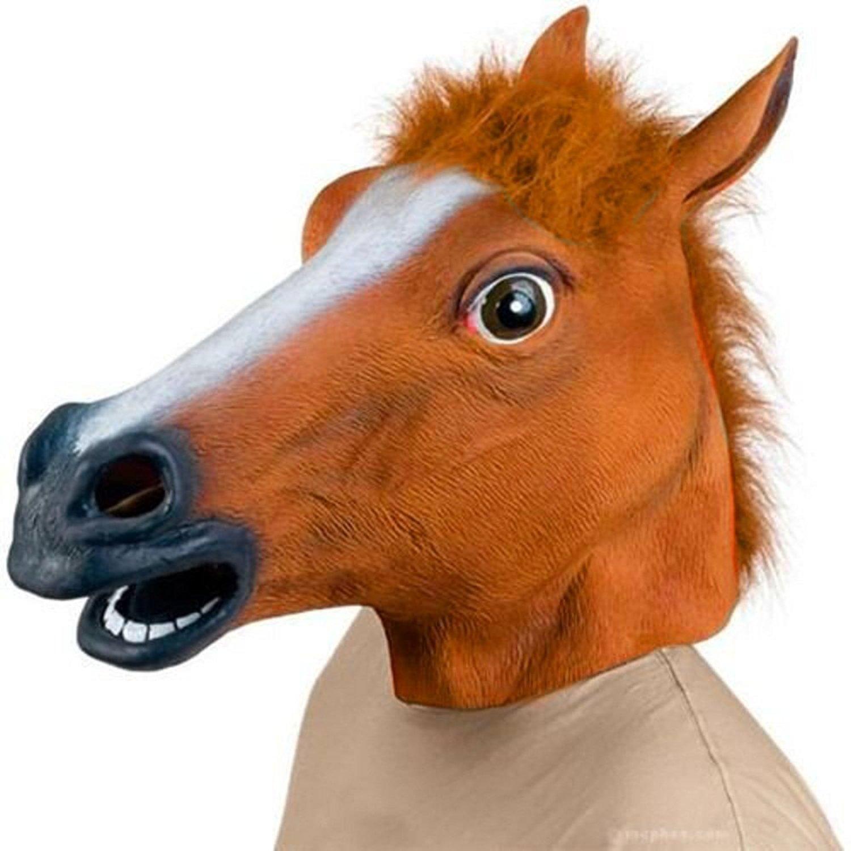 ICE FROG - Creepy Party Novelty Latex Animal Horse Head Mask Halloween Costume