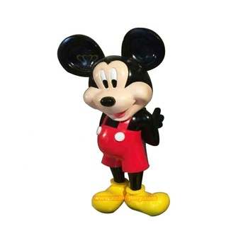 Christmas Children's Playground Ornaments Products Fiberglass Mickey Mouse Statue