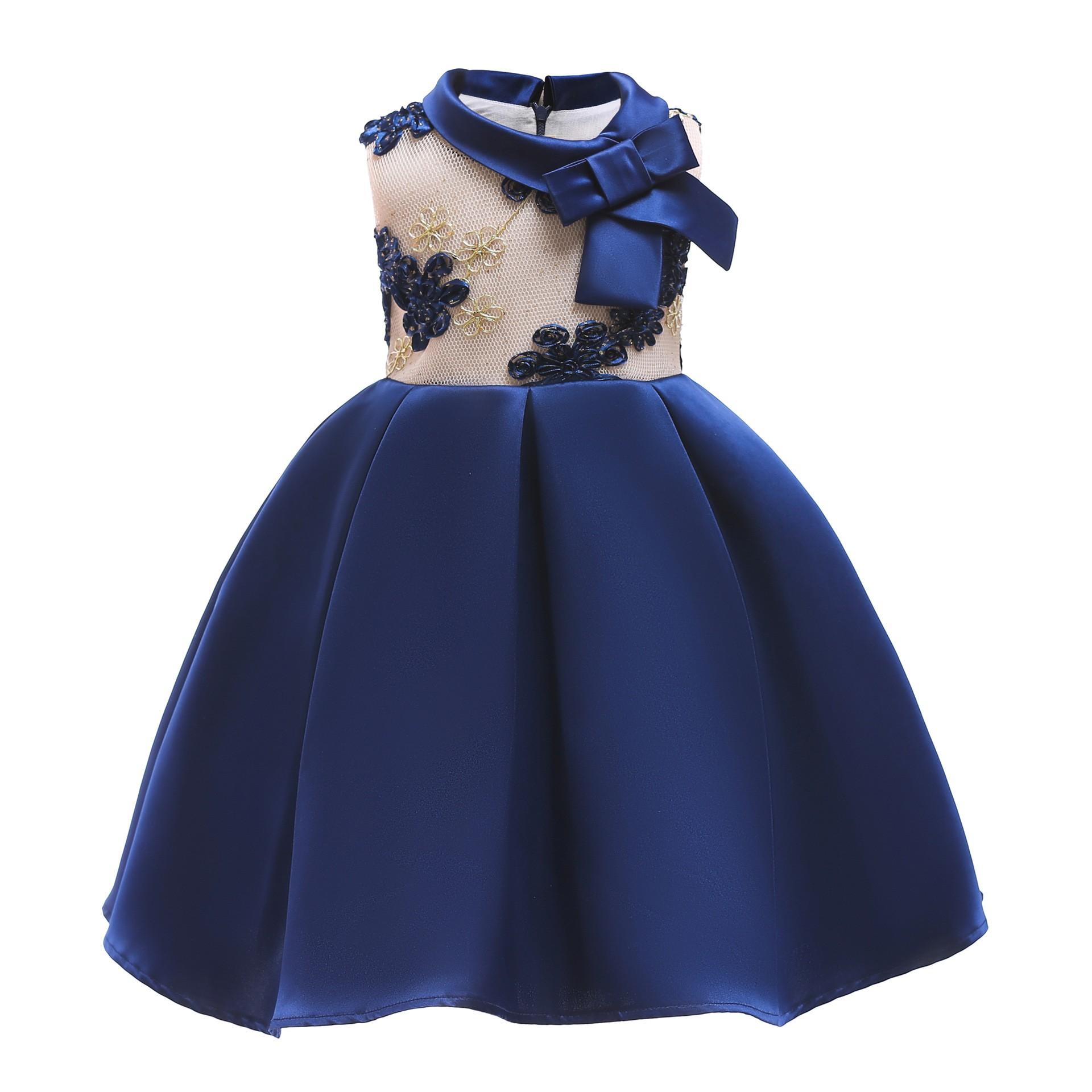749f85baef1b3 Bébé Robe De Princesse De Broderie Pour La Fête De Mariage Enfants Robes  Enfant En Bas