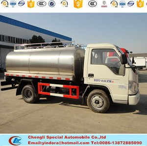 Best price new china food transport tank truck milk tanker mounted on forland chassis truck