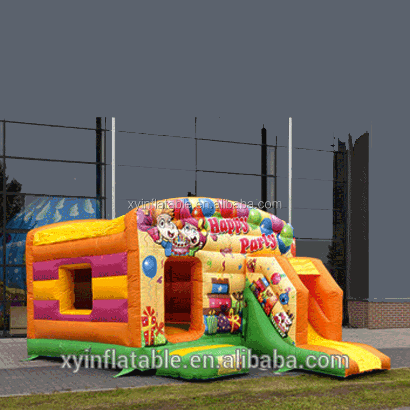 2017New products happy party combo inflatable bouncer for rental