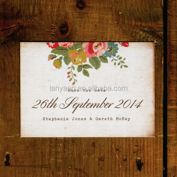 Shabby Chic Fl Ilration Postcard Wedding Invitation Card Vintage Flowers