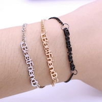 Simple Style Rubber Band Alloy BFF Bracelets