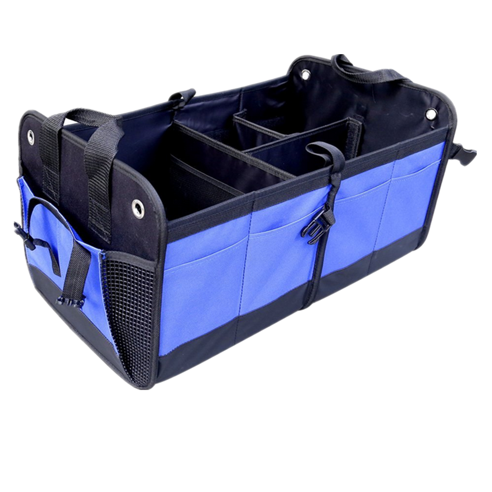 Folding collapsible travel tote car trunk organizer bag with Mesh pocket