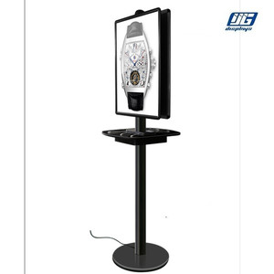 Factory mobile phone charging station double sided advertising board