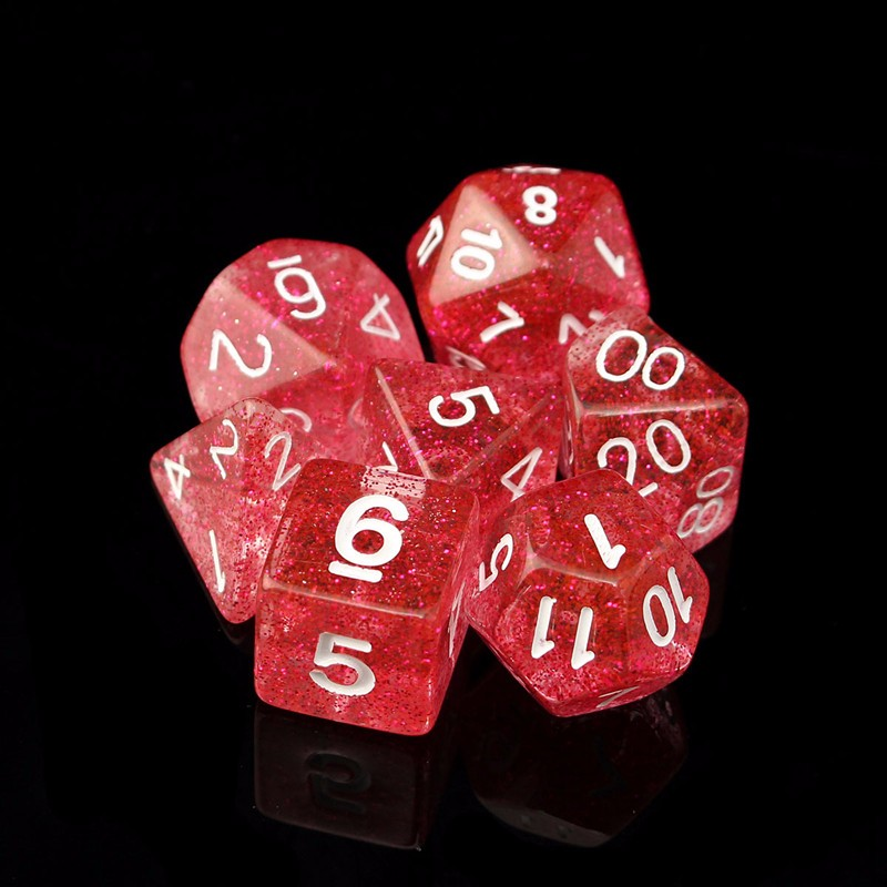 7pcs//Set Creative Multifaceted Digital Dice for Games WST 01
