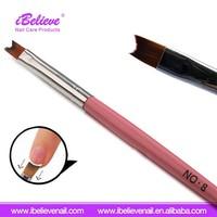 Various Styles Painting 3D Nail Gel Polish Applicator Round Pure Color Nail Brush