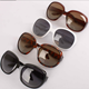 Vintage oversize cats eye ladies big frame high fashion sunglasses