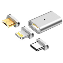 Metall Micro USB Magnetic Charging Daten Adapter Konverter 3in für SAMSUNG <span class=keywords><strong>S9</strong></span> S8 S7 Rand HTC Xiaomi HUAWEI LG <span class=keywords><strong>ASUS</strong></span> android TYPE-C