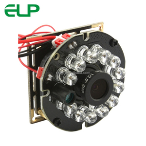 ELP 1080P CMOS high speed night vision infrared camera usb with 12pcs IR LED board