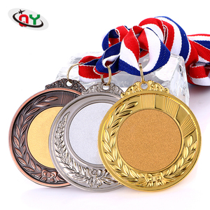 Factory price antique coin trophies and medals engraved metal custom gold silver bronze military medal with ribbon