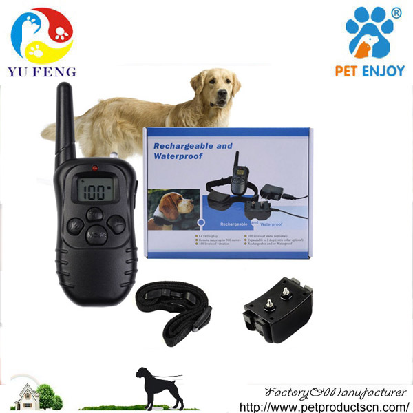 2017 newest dog electric shock collar with flash light , led light, white light waterproof E-998DR