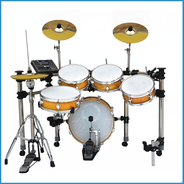 chinese golden electric drum kit electronic drum kit china electric drum set for sale buy. Black Bedroom Furniture Sets. Home Design Ideas