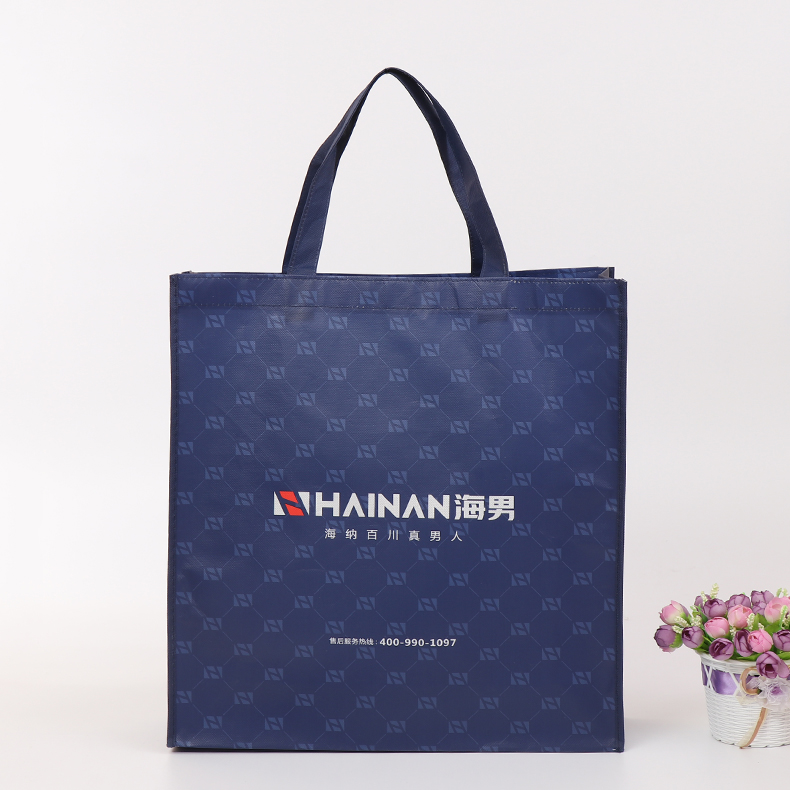 Hot sale custom printed logo gift non woven bag, shopping handle non-woven cloth bag for men's garment